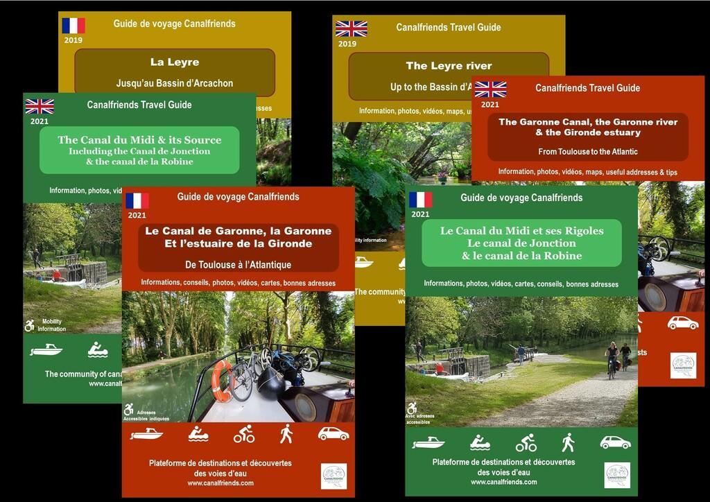 guide; canal du Midi; canal de Garonne; gironde